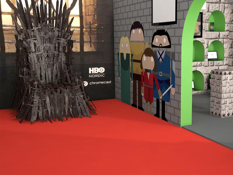 Expo Stand Exhibition Design Android Game of Thrones 3D