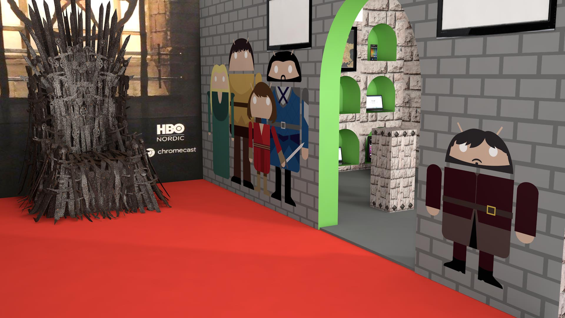 Exhibition Stand Design HBO Android
