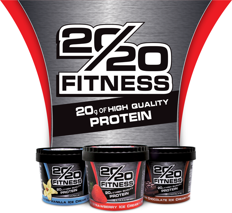 20/20 Fitness Full Logo with Cups