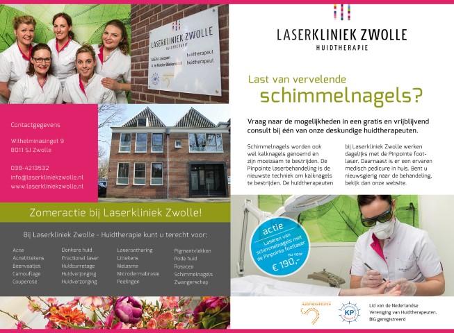 Zomeractie bij Laserkliniek Zwolle-Huidtherapie - Last van vervelende schimmelnagels.