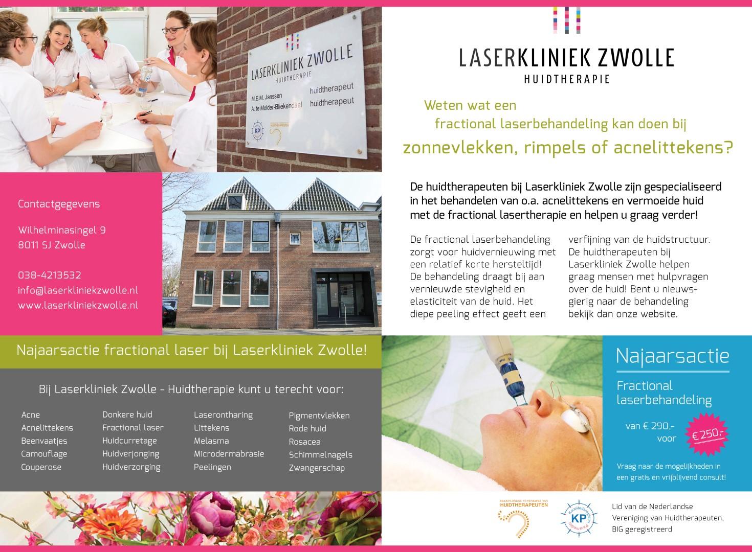 Najaarsactie Fractional Laser bij Laserkliniek Zwolle.