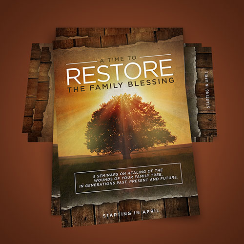 Diseño de Cartel Catolico A Time to Restore the Family Blessing | New Pentecost Catholic Ministry