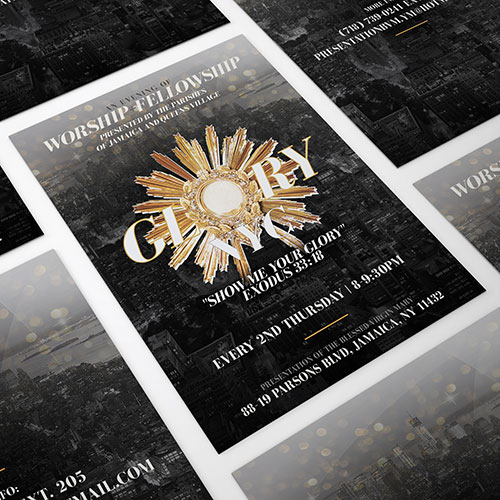 Catholic Christian Flyer Design Glory NYC | New Name Ministry