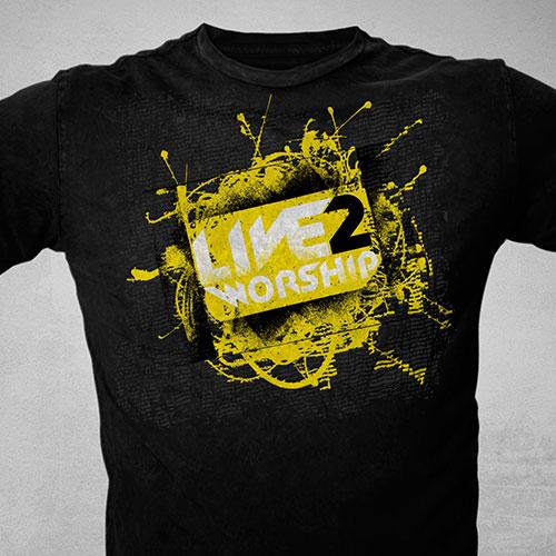 Catholic Christian T-Shirt Design | Live 2 Worship