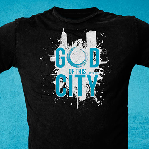 Diseño Cristiano Catolico para Playeras / Camisetas  | God of this City