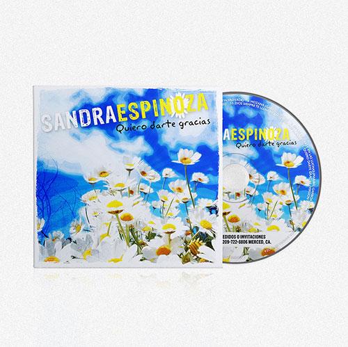 Diseño de CD Quiero darte Gracias | | Sandra Espinoza