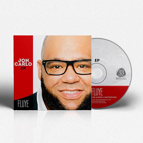 Diseño de CD EP Fluye | Jon Carlo Band