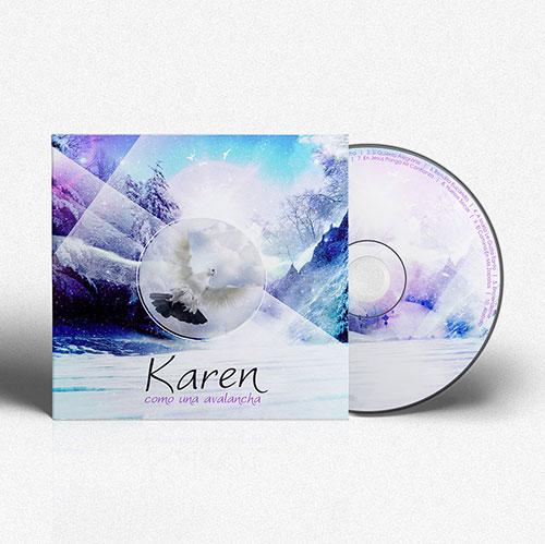 Diseño de CD Como una avalancha | Karen