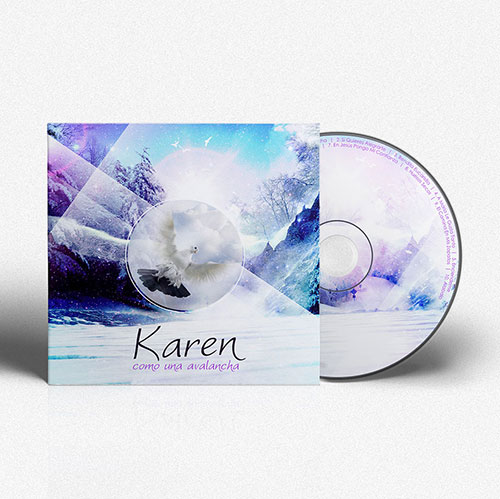 CD Cover Design Como una avalancha | Karen