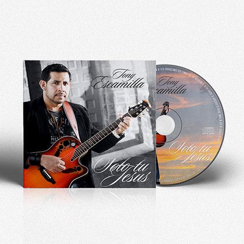 Diseño de CD Solo tu Jesus | Tony Escamilla