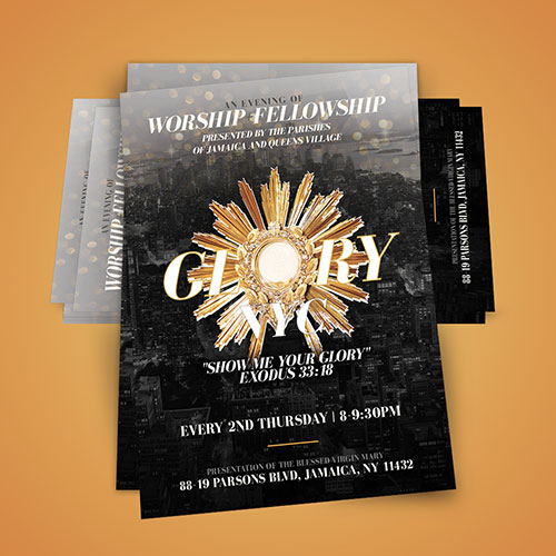 Poster Design Glory NYC | New Name Ministry