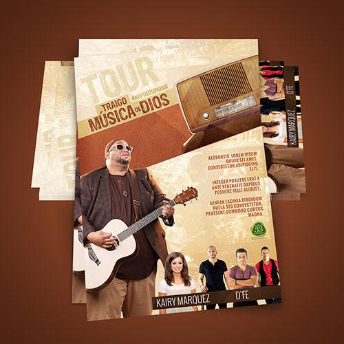 Diseño de Cartel Tour Cristiano Traigo Musica de Dios   Jon Carlo Band