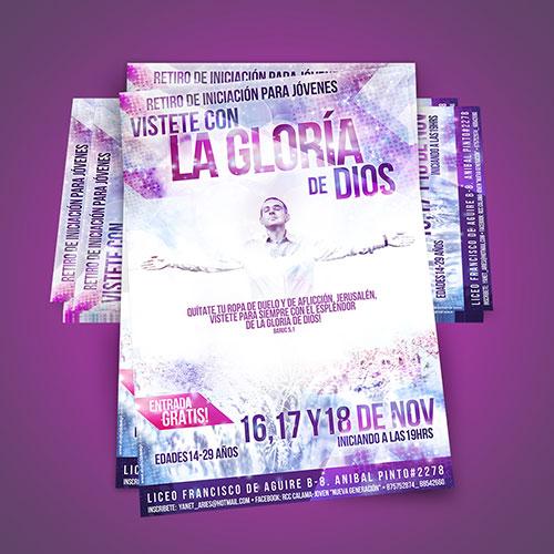 Diseño de Flyer / Afiche Catolico 'Vistete con la gloria de Dios'   RCC Chile