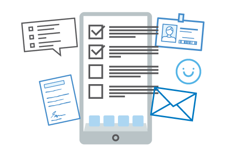 Auto-filled forms and digital signatures