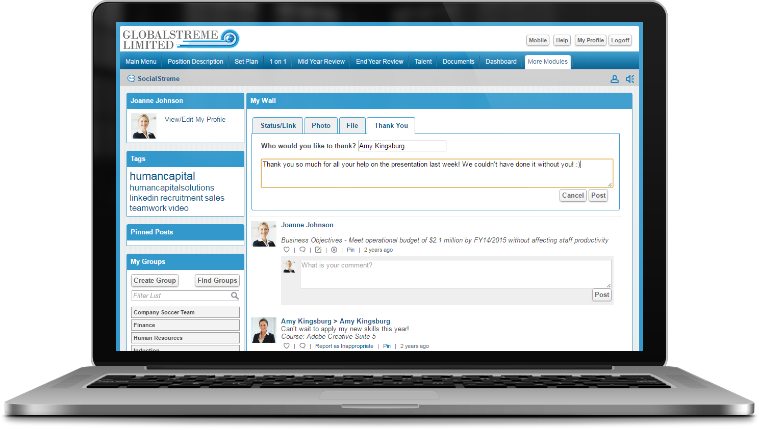 SocialStreme Social HR Software