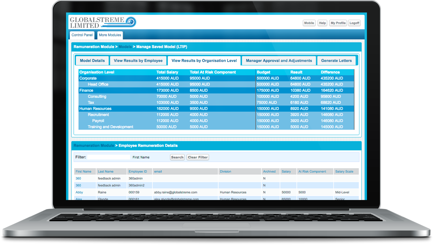 Employee Remuneration Management Software