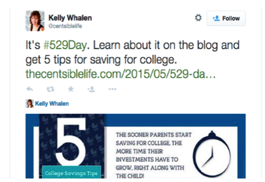 Tweet by Kelly Whalen