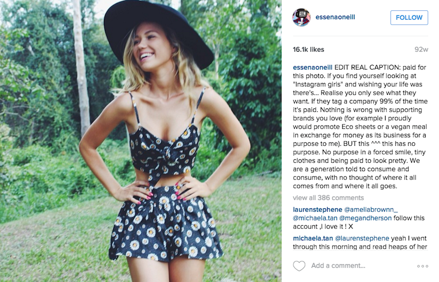 Essena Oneill: Paid Influencer Marketing on Instagram