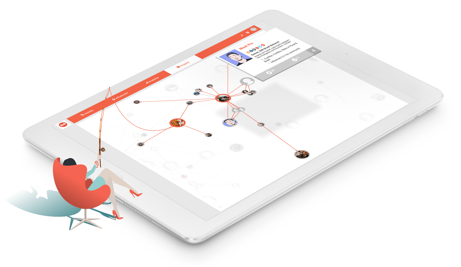 Influencer map enables you to grow your global network on Traackr app