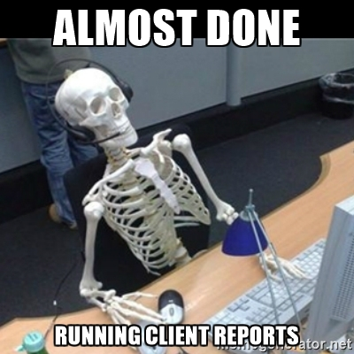 NinjaCat Almost Done Running Client Reports