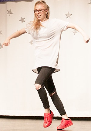 Miss Stacey Street Dance Teacher on Stage