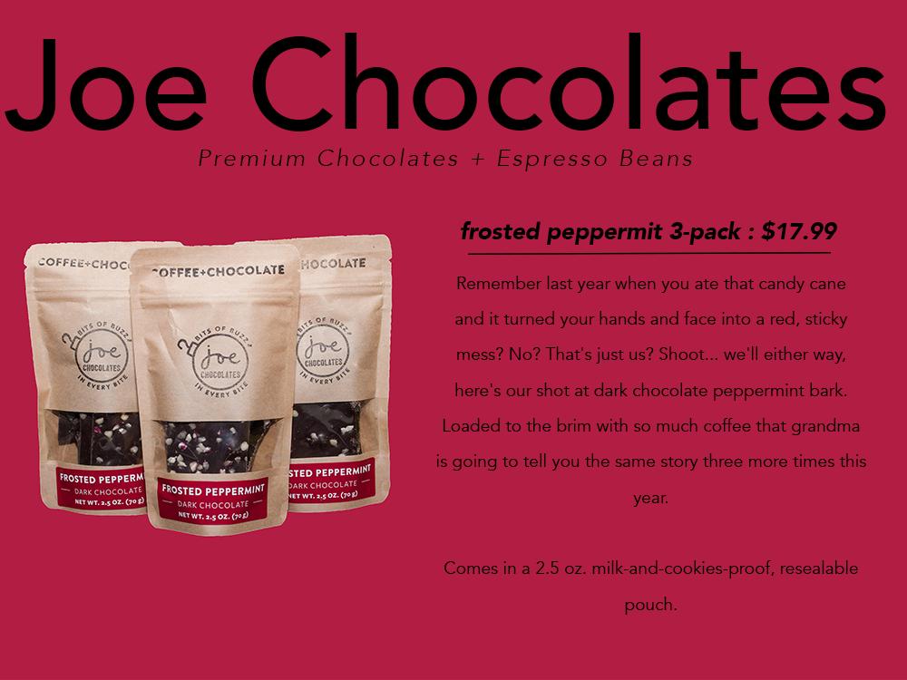 PNW gift guide Joe Chocolates peppermint bark