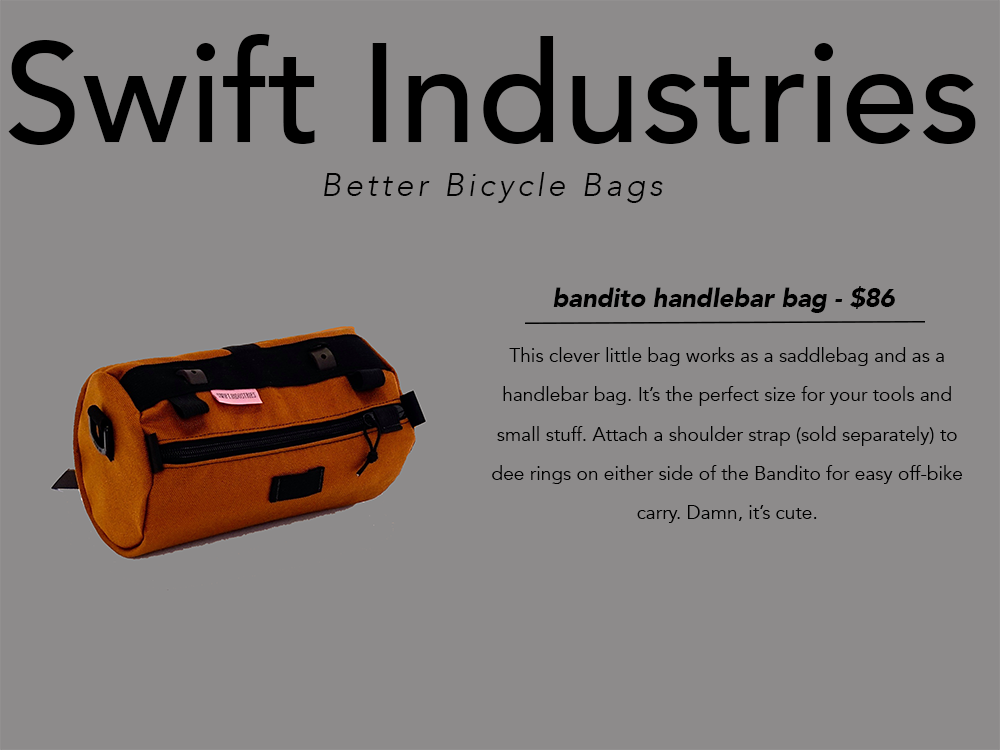 PNW gift guide Swift Industries handlebar bag
