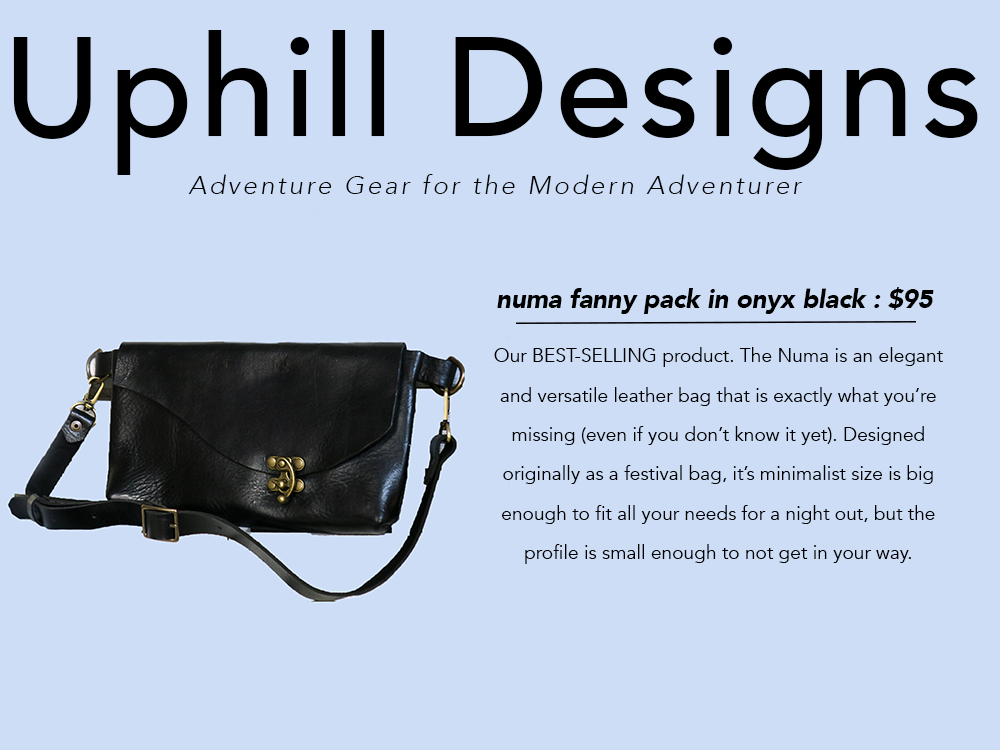PNW gift guide Uphill Designs leather numa fanny pack