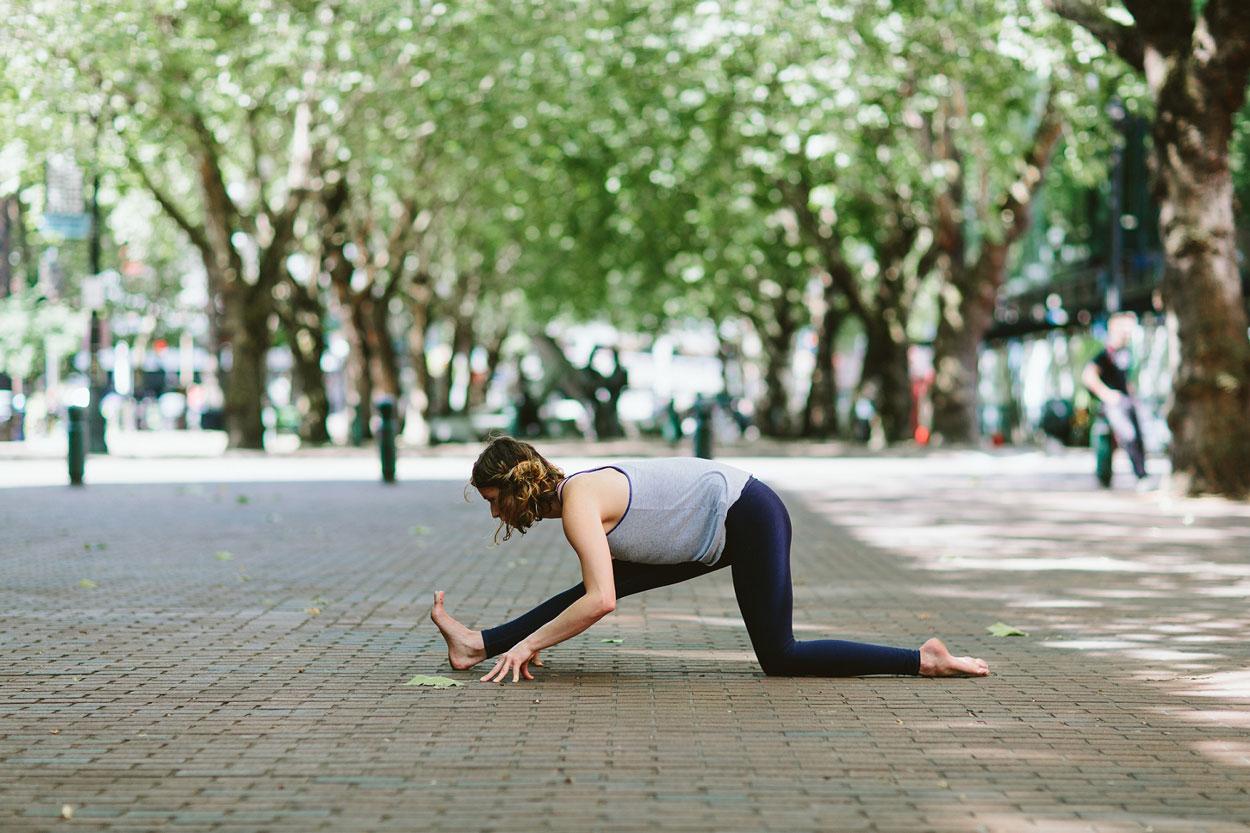 Half splits yoga asana