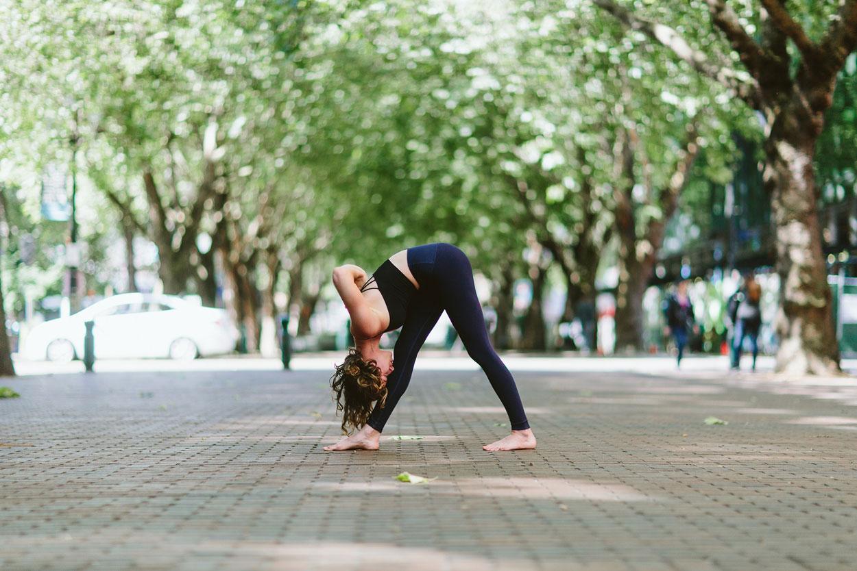 Pyramid pose yoga asana