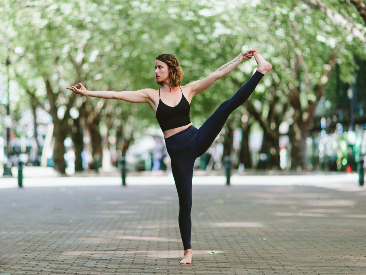 Standing big toe pose yoga asana