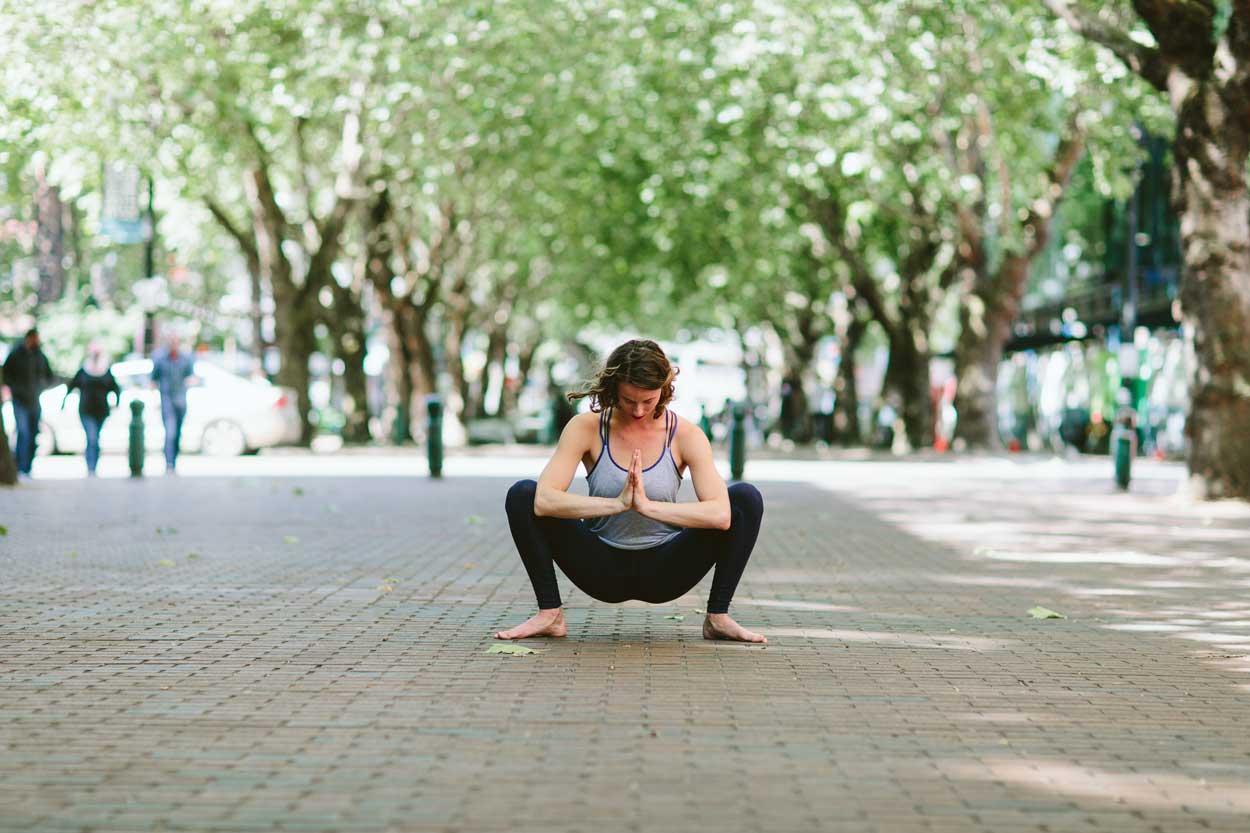 Malasana Frog Pose, yoga asana