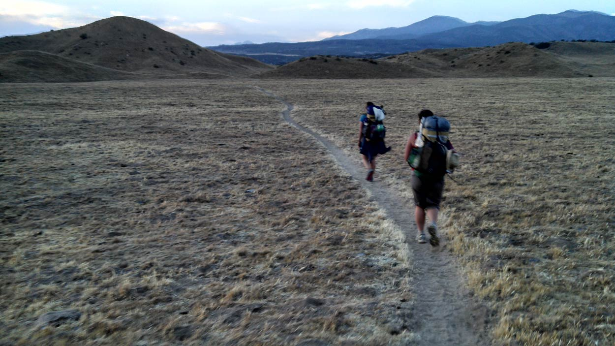 Desert trekking on the Pacific Crest Trail