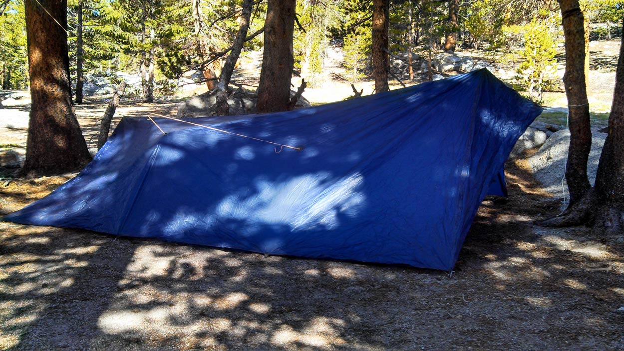 DIY tent on the PCT