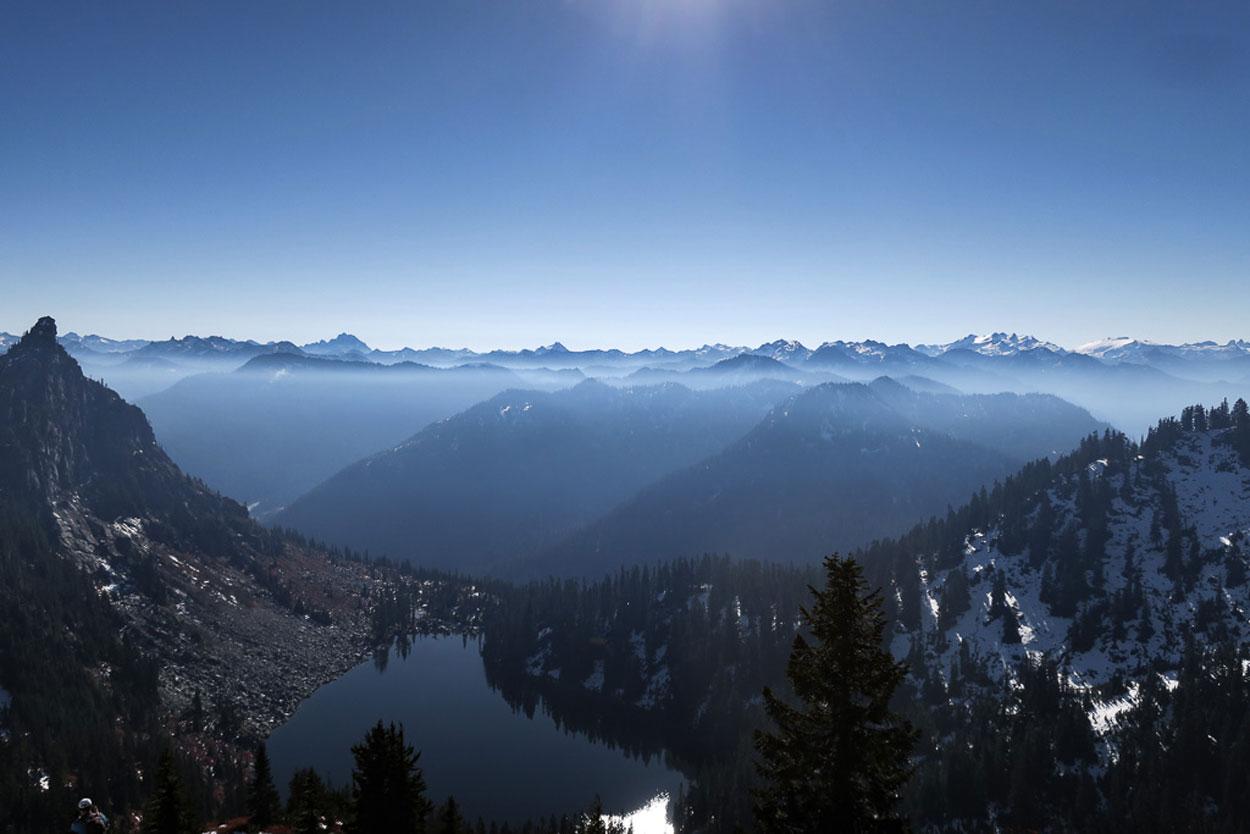 Epic vantage over lake Valhalla