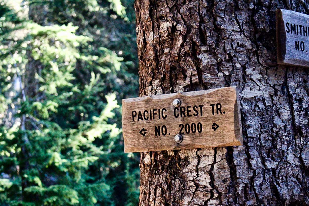 Pacific Crest Trail sign in Washington