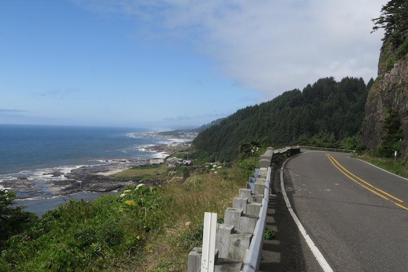 Pacific Coast Bike Route Oregon Highway