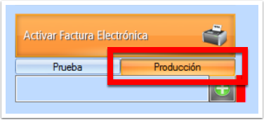 Dale clic al botón producción