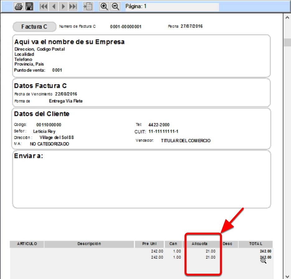 Los formularios finalizados con la letra A incluyen una columna de alícuota o porcentaje de impuestol