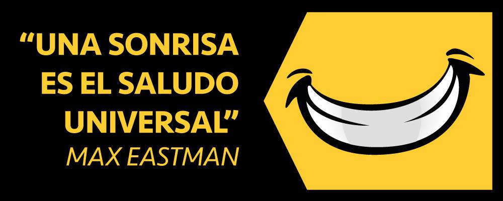 Una sonrisa es el saludo universal