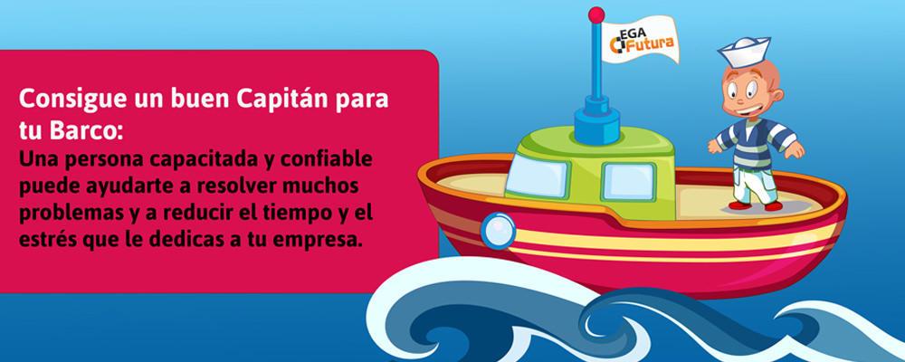 Consigue un buen Capitán para tu Barco