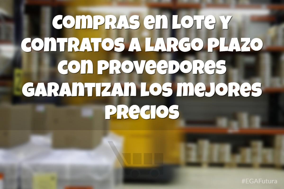 Compras en lote y contratos a largo plazo con proveedores garantizan los mejores precios
