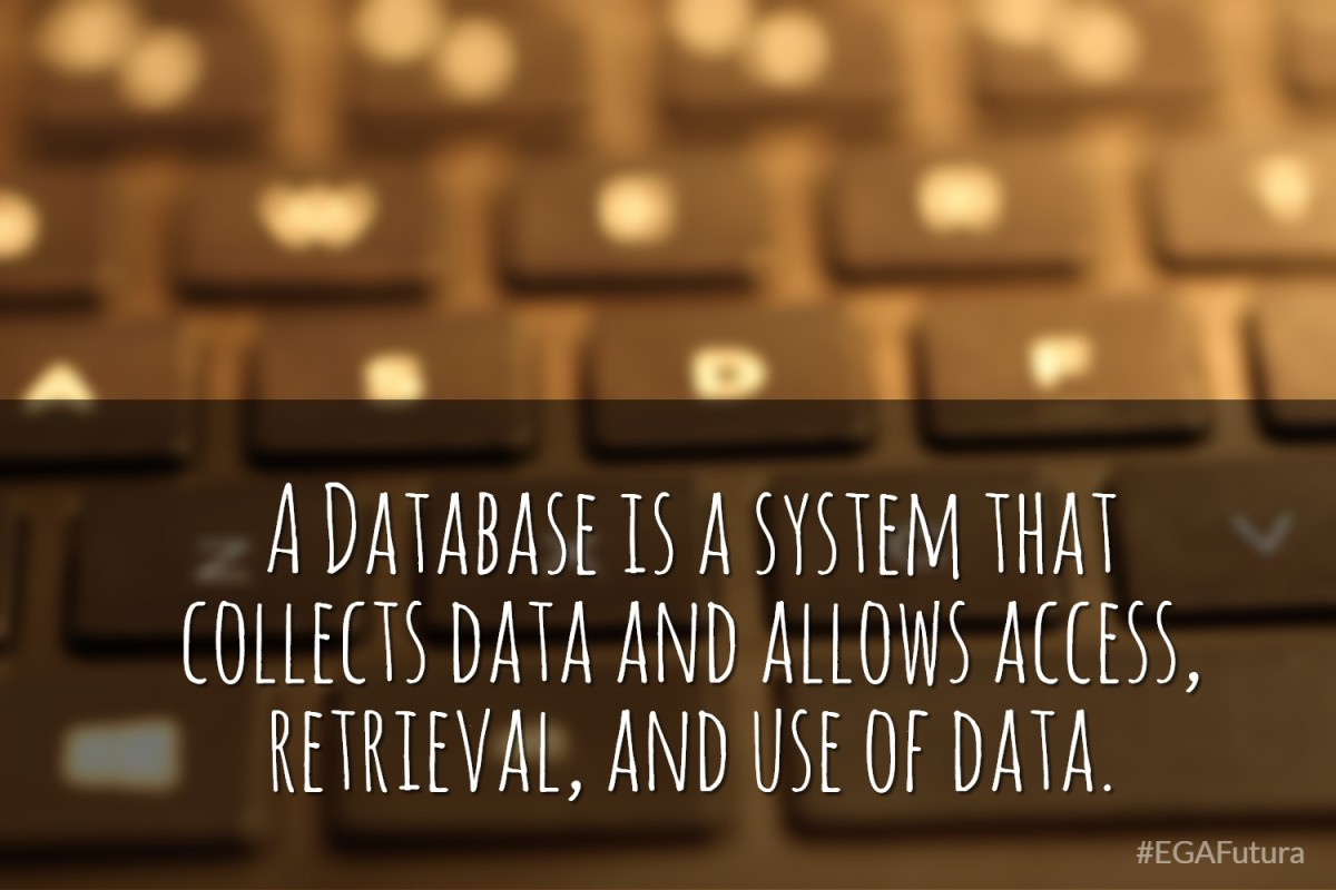 A Database is a system that collects data and allows access, retrieval, and use of data.