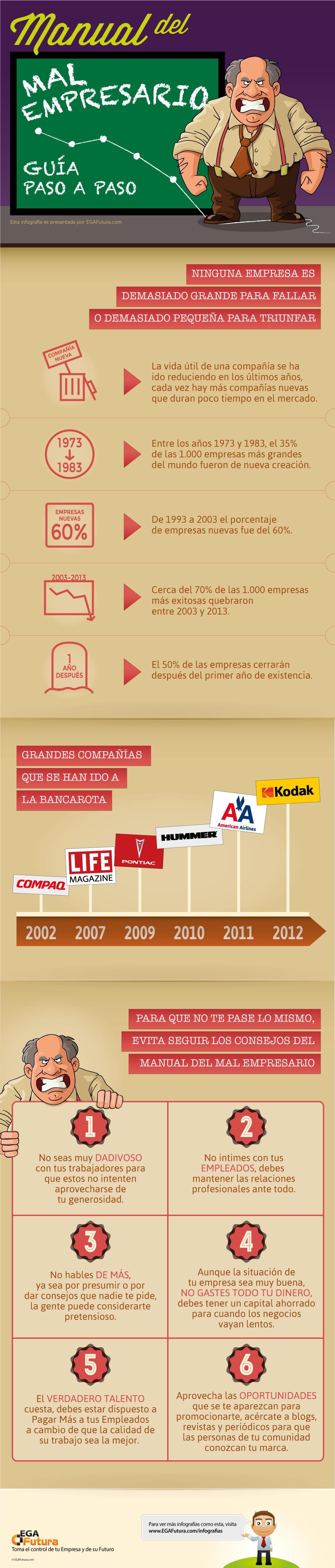 Infografía: Manual del Mal Empresario: Guía paso a paso