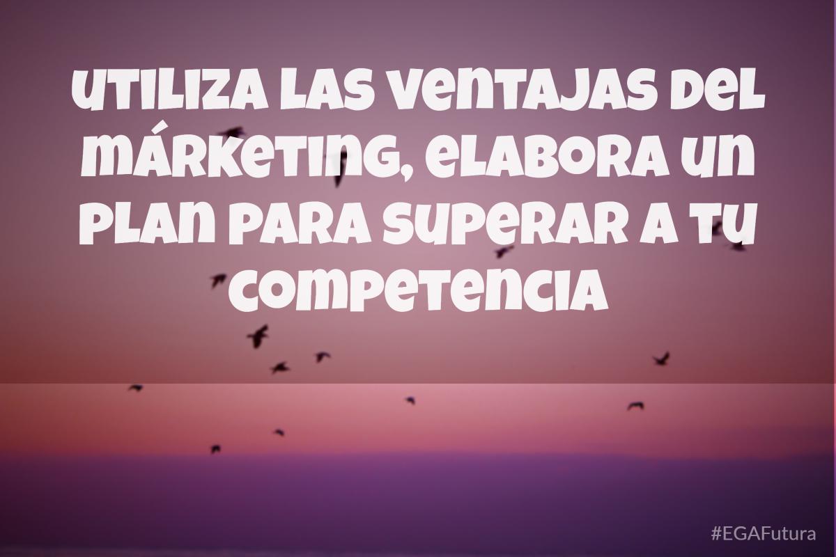 Utiliza las ventajas del márketing, elabora un plan para superar a tu competencia