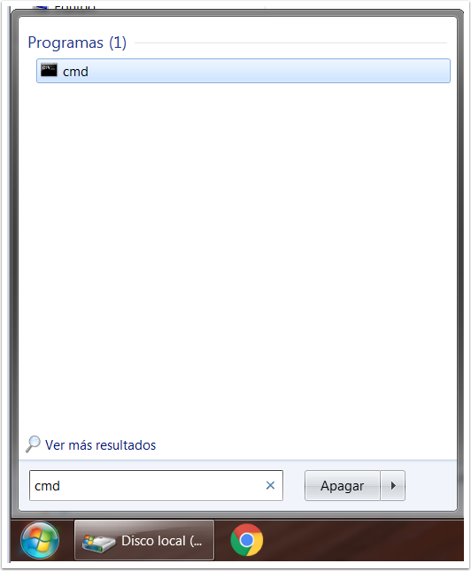 CMD en Windows 7