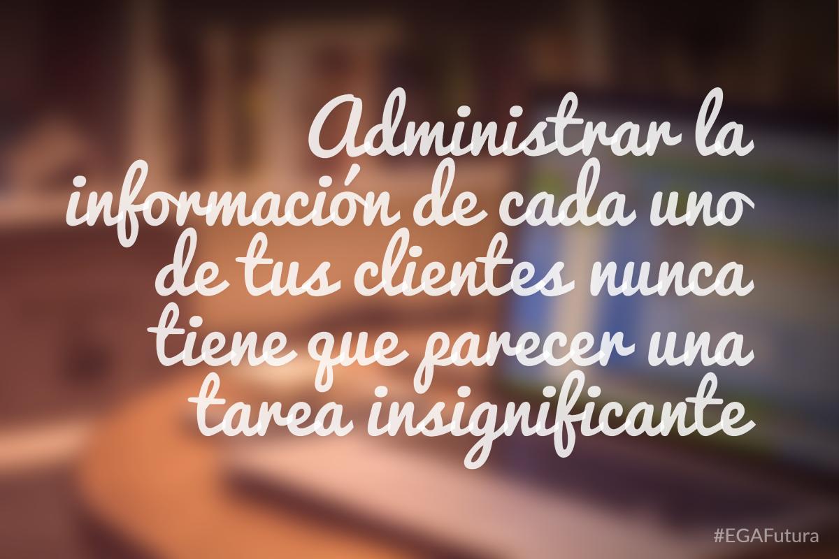 Administrar la información de cada uno de tus clientes nunca tiene que parecer una tarea insignificante