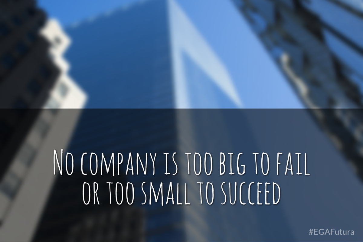No company is too big to fail or too small to succeed