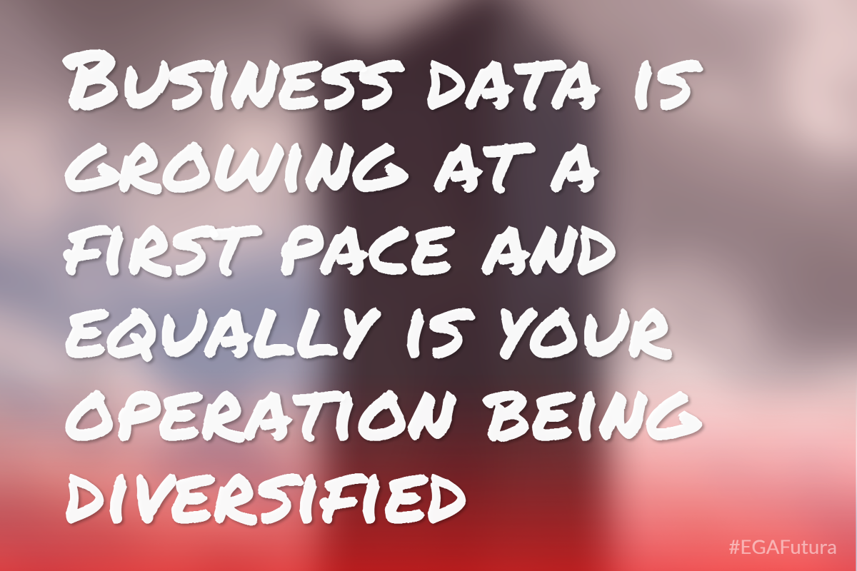 Business data is growing at a first pace and equally is your operation being diversified
