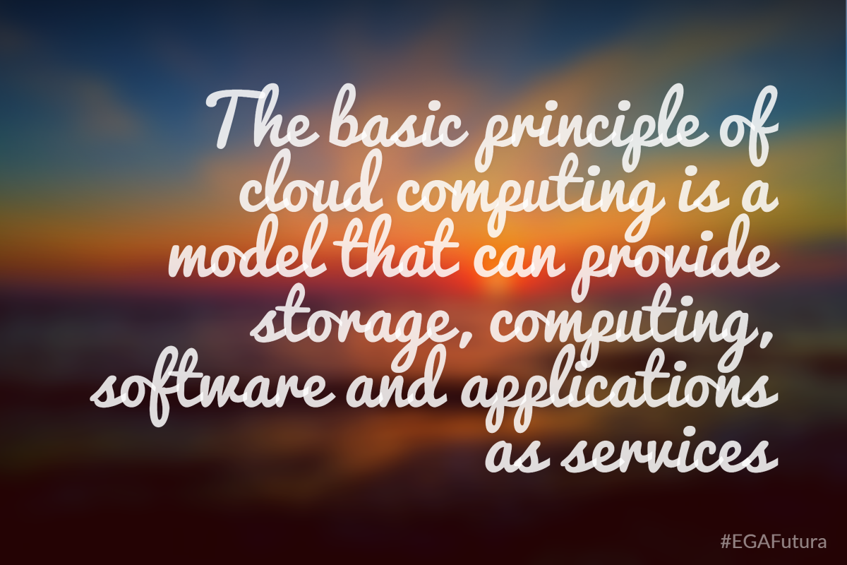 The basic principle of cloud computing is a model that can provide storage, computing, software and applications as services